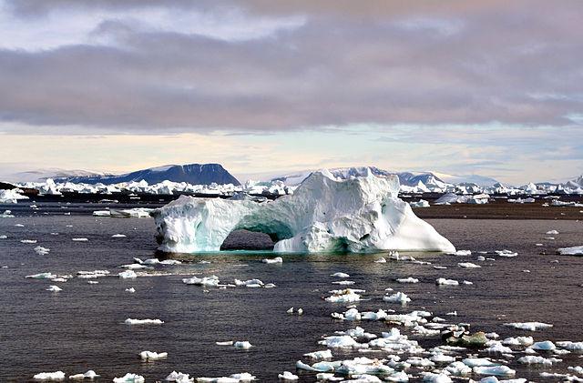 Iceberg with hole